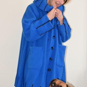 Damenmode Büsum-Fleecemantel-royalblau-vorne2