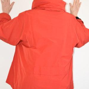 Damenmode Büsum-Hopsack Jacke-rot-hinten