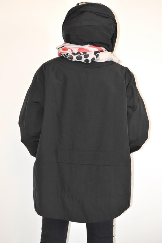 Damenmode Büsum-Hopsack Jacke-schwarz-hinten