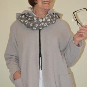Damenmode Büsum - Hopsack Wolljacke-steinfarben-vorne1