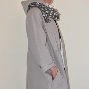 Damenmode Büsum Hopsack Wollmantel-big-steinfarben-seitlich