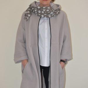 Damenmode Büsum - Hopsack Wollmantel-big-steinfarben-vorne