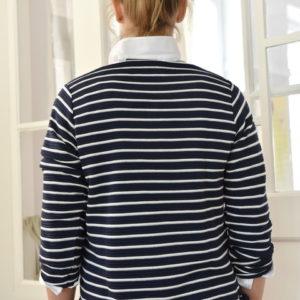 Damenmode Büsum-Kimmy Pullover-blau gestreift-hinten