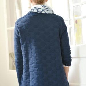 Damenmode Büsum-Kimmy Pullover-groß-blau-hinten
