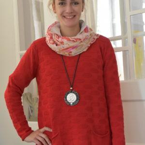 Damenmode Büsum-Kimmy Pullover-groß-rot-vorne