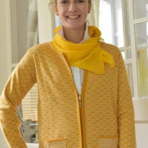 Damenmode Büsum-Kimmy Strickjacke-gelb-vorne