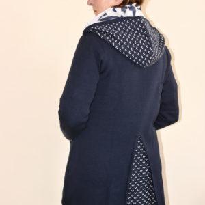 Damenmode Büsum-Kimmy Strickjacke-lang-hinten